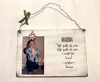 Portafoto in legno per la mamma - Regalo festa della mamma - idea regalo personalizzato festa della mamma regali personali...