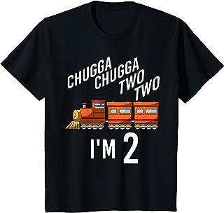Enfant 2nd Birthday Boy Train Two Second Yr Toddler Locomotive T-Shirt