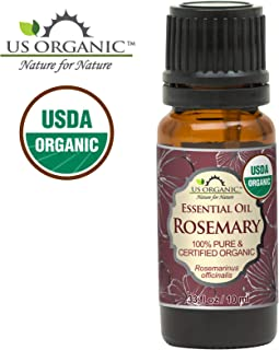 US Organic 100% Pure Rosemary Essential Oil - USDA Certified Organic, Steam Distilled - 10 ml (More Size Variations Available)