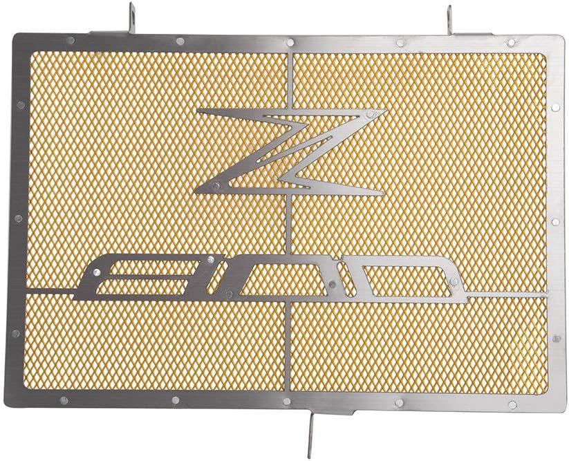 FATExpress Motorcycle Protezione per copri radiatore in acciaio inox in alluminio per 2014-2017 Kawasaki Z800 2015 2016 14-17 Oro