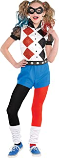DC Super Hero Girls Romper Harley Quinn Costume for Girls, Includes a Romper, a Mask, and Belt