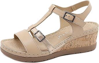 Sandales Pour Femmes Les Doubles Bretelles Résistantes À L'usure D'été Sont Minces Et Polyvalentes Chaussures De Sport La ...