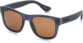Havaianas PARATY/L Gafas de sol, color Azul/Café, 52 mm