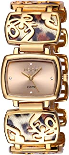 Women Bracelet Wrist Quartz Watch - Gold Square Bangle Hollow-Out Watches- Alloy Waterproof