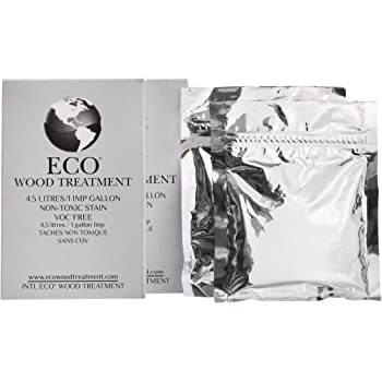 Eco Wood Treatment 1 US Gallon, Long Lasting, Silvery Patina, Semi-Transparent (2 Pack)
