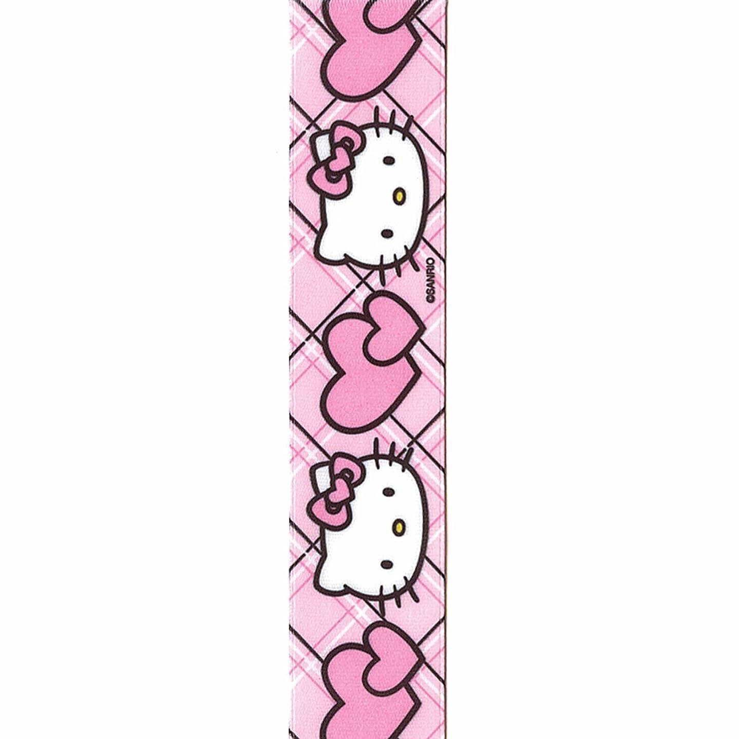 Offray Hello Kitty Craft Ribbon, 7/8-Inch x 9-Feet, Hearts