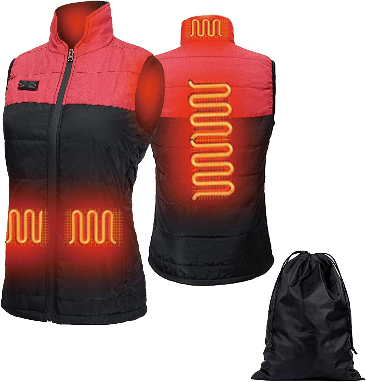 Heated Vest for Women, Lightweight Winter Warm Vests with USB Insert for Outdoor Activities: Clothing