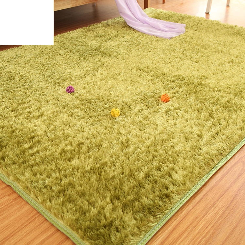 Silk Wool mats Bedroom Living Room Floor mats Doormat Bedroom Blanket for Bedroom -E 140x200cm(55x79inch)