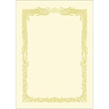ササガワ 賞状用紙 タカ印 OA対応 横書き用 クリーム A4 10枚 10-1068