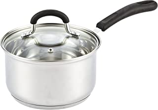 Cook N Home 02416 Silicone Handle 2-Quart Stainless Steel Saucepan