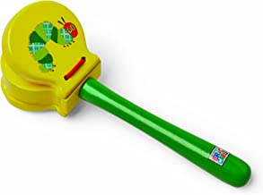 World of Eric Carle, The Very Hungry Caterpillar Wood Clacker - Castanets with Handle for Children