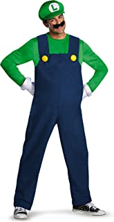 Super Mario Luigi Deluxe Mens Adult Costume