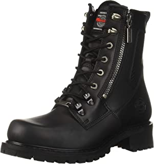 (8 D) - Milwaukee Motorcycle Clothing Company Trooper Leather Men's Motorcycle Boots (Black, Size 8D)