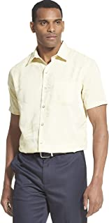 Men's Air Tropical Short Sleeve Button Down Poly Rayon Shirt