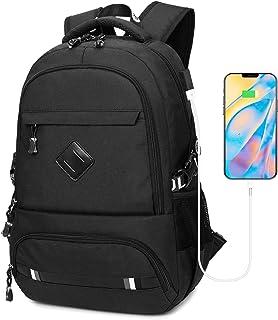 Mochila para Portátil Hombre Impermeable 15.6 Pulgadas, Resistente al Agua Mochila con Puerto de USB para Ordenador, Trabajo Ordenador Viaje Negocio Multifuncional Daypacks