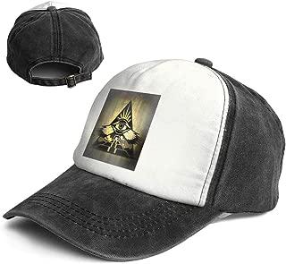 Vintage Third Eye Digital Power Pyramid Cotton Adjustable Washed Dad Hat Baseball Cap
