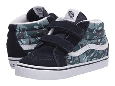 Vans Kids Sk8-Mid Reissue V (Infant/Toddler) ((Animal Camo) Parisian Night/True White) Boys Shoes