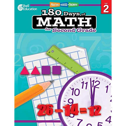 180 Days of Math: Grade 2 - Daily Math Practice Workbook for Classroom and Home, Cool and Fun Math, Elementary School Level Activities Created by Teachers to Master Challenging Concepts