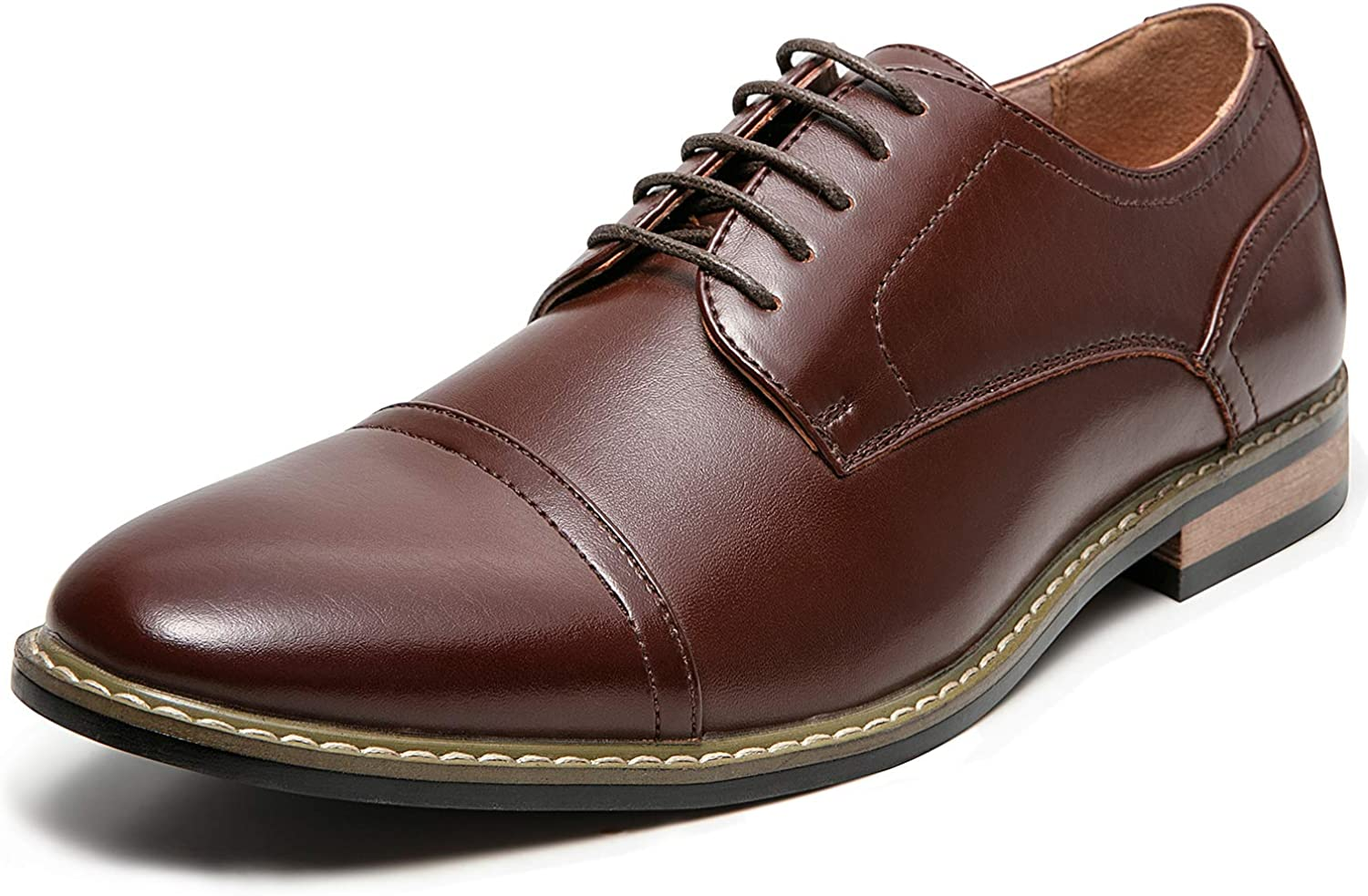 ZRIANG MEN's Classic Cap Toe Lace -up Oxford Dress skor skor skor  onlinebutik