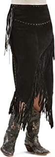 Women's Asymmetrical Fringe Suede Leather Skirt