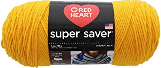 RED HEART E300B-0234 Super Saver yarn, Saffron