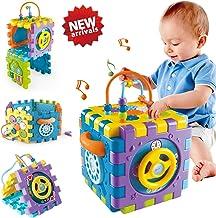 Juguetes para Bebé 6-18 meses Juguete Cubo de Actividades para Bebé, Centro de Juegos Multipropósito 6 en 1 con Música Los Mejores Juguetes de Regalo para Niños y Niñas Pequeños de 1 2 3 4 años