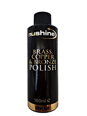 Nushine Brass, Copper & Bronze Polish 3.4 Oz - Ecofriendly, Solvent Free & Contains Anti Tarnish Agent to delay Future Tarnish