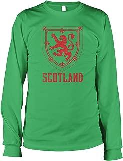 Hoodteez Scotland Coat of Arms, Crown of Scotland Men's Long Sleeve Shirt