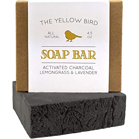 Activated Charcoal Soap Bar - Natural Face Soap & Body Soap for Acne, Blackheads, Eczema, Psoriasis, Sensitive Skin. Black Soap Facial Cleanser for Oily Skin. Vegan, Non-GMO, Organic Ingredients