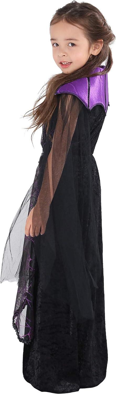 ReneeCho Girl/'s Vampire Costume Halloween Gothic Dress Victorian Vampiress Bat