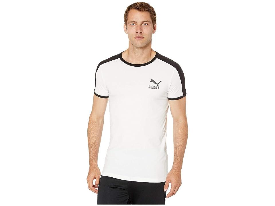 PUMA Iconic T7 Tee (Puma White 1) Men
