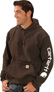 Men's Midweight Sleeve Logo Hooded Sweatshirt (Regular and Big & Tall Sizes)