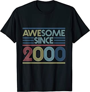 Vintage 19th Birthday Gifts - Awesome Since 2000 T-Shirt