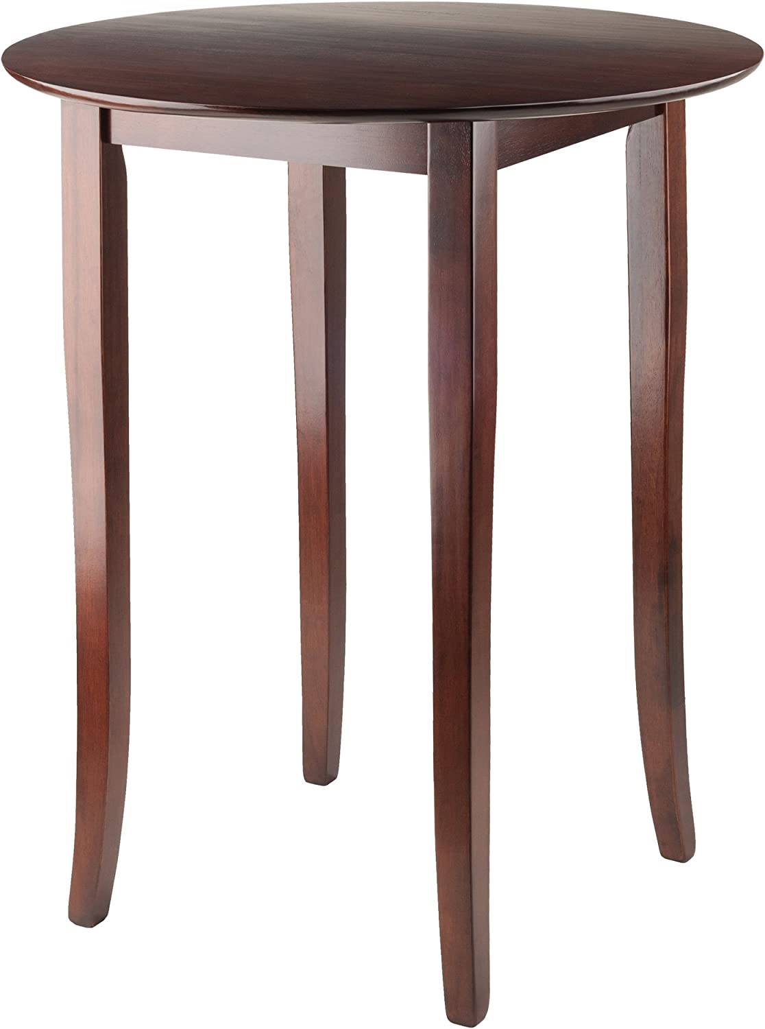 Winsome Wood Fiona Round High Pub Table In Antique Walnut Finish