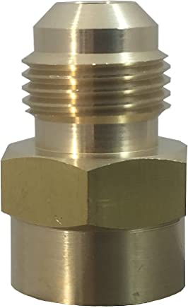 Fuel or Gas Line Brass Fitting, Connector Coupling 3/8