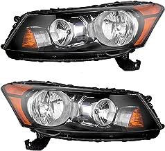 Headlights Headlamps Driver and Passenger Replacement for 08-12 Honda Acoord (4-Door Sedan) 33150TA0A01 33100TA0A01
