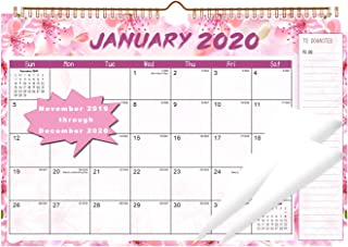 2020 Calendar - Wall Calendar 14 Months Thick Paper Perfect for Organizing & Planning November 2019 - December 2020 11.5 x 15 Inches Wire-Bound