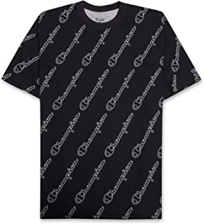 Champion Mens Big and Tall All Over Print Shirt for Men - Big & Tall Graphic Tee Black White