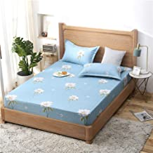 to Fit Snugly Around Your Mattress,Cotton Printed Sheets,Single and Double King Size Non-Slip Protective Cover for Apartme...