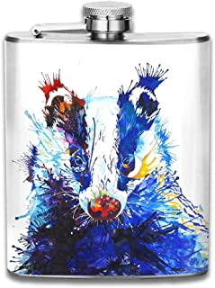 WUGOU Stainless Steel Hip Flask 7 Oz (No Funnel) Painting Irrigation Full Printed