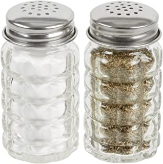 Great Credentials Retro Style Salt and Pepper Shakers with Stainless Tops Set of 2
