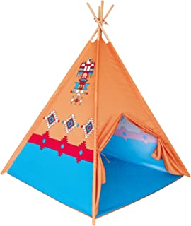 POCO DIVO Eagle Teepee Tent Canvas Finish Kids Indoor Playhouse Children Outdoor Play Toy Tipi with Wood Poles