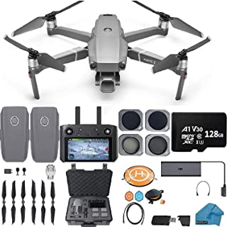 DJI Mavic 2 PRO Drone Quadcopter with Smart Controller, 2 Batteries, with ND, CPL lens Filters, 128GB SD Card, Hard Case, ...