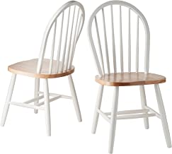 Winsome Wood Assembled 36-Inch Windsor Chairs with Curved legs