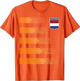 Women Men Netherlands Soccer Shirt Holland Cheer Jersey 2019 T-Shirt
