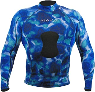 Wetsuit Shirt Spearfishing Blue Camouflage Lycra Long Sleeve - 1.5mm