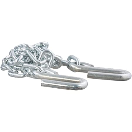 CURT 80030 48-Inch Trailer Safety Chain with 7/16-In S-Hooks, 5,000 lbs Break Strength