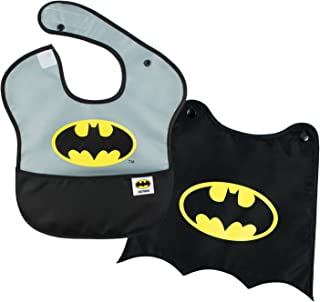 Bumkins DC Comics Batman SuperBib, Baby Bib, With Cape, Waterproof, Washable, Stain and Odor Resistant, 6-24 Months