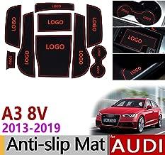 linfei Alfombrilla Antideslizante De Goma con Ranura para Puerta para Audi A3 8V 2013-2019 S3 Rs3 RS 3 S Accesorios De L/ínea Pegatinas De Coche