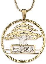 Cedar Tree of Lebanon, Pendant & Chain Hand Cut Lebanese Coin Featuring a Cedar Tree.